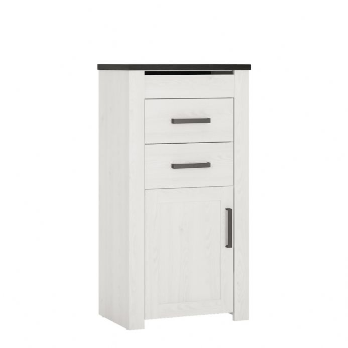 Provence Cabinet 2 drawer 1 door with lift up mirrored top